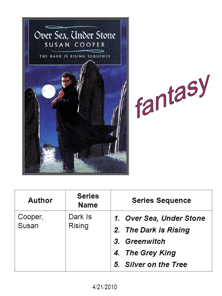 fantasy Author Series Name Series Sequence Cooper, Susan