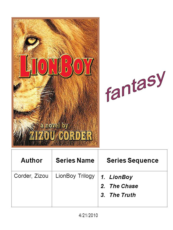 fantasy Author Series Name Series Sequence Corder, Zizou