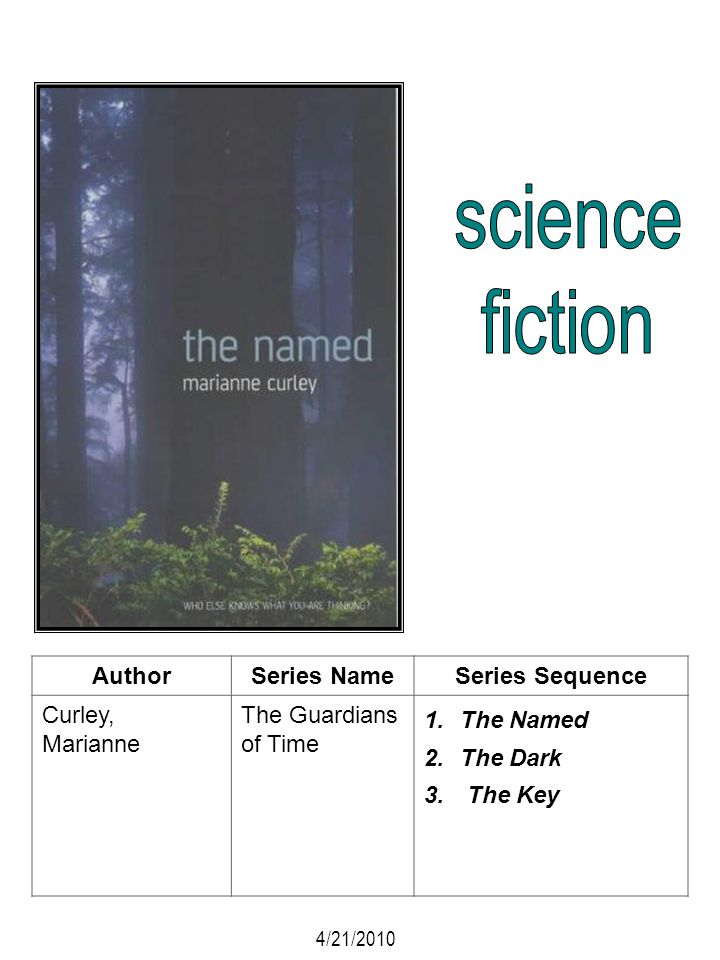 science fiction Author Series Name Series Sequence Curley, Marianne