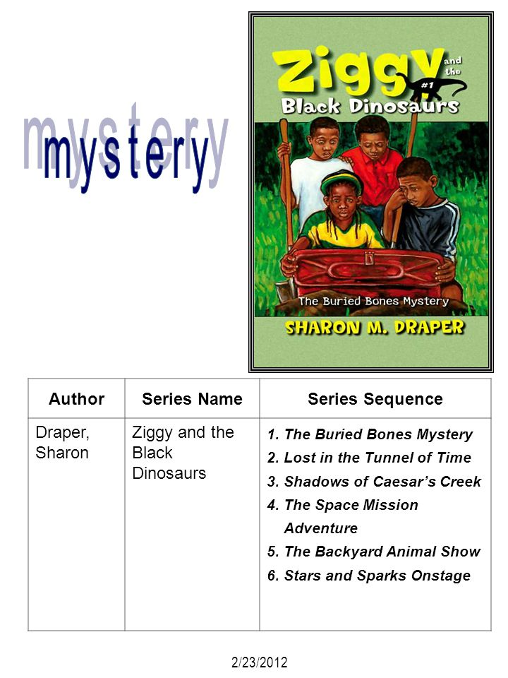 mystery Author Series Name Series Sequence Draper, Sharon