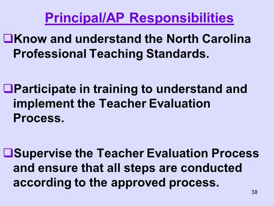 Principal/AP Responsibilities