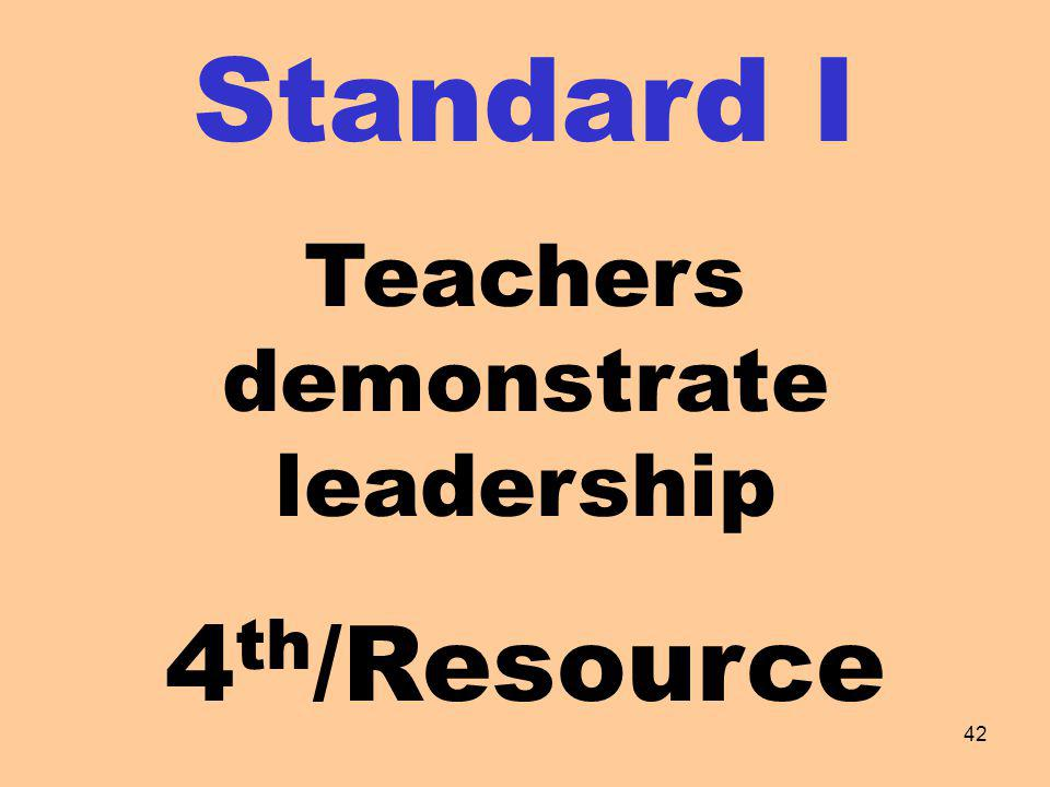 Teachers demonstrate leadership