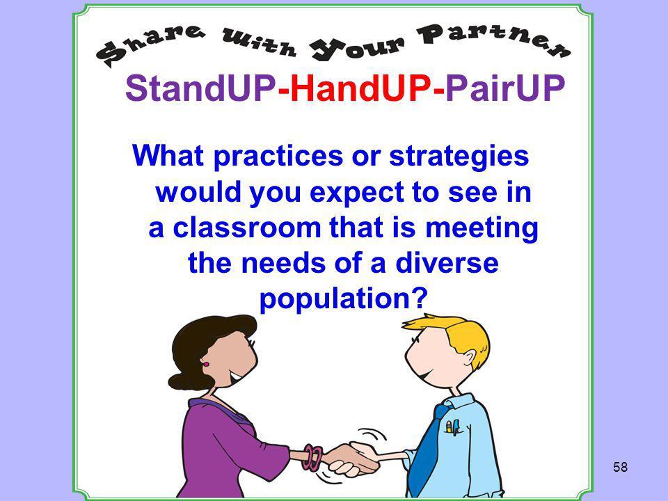 StandUP-HandUP-PairUP