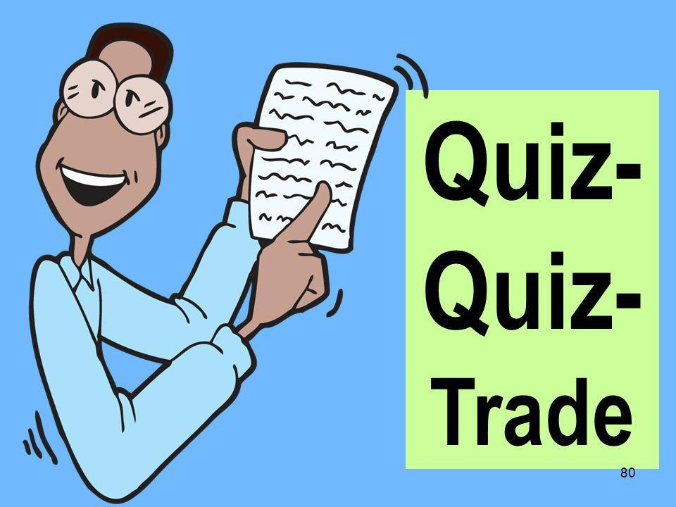 Quiz- Trade