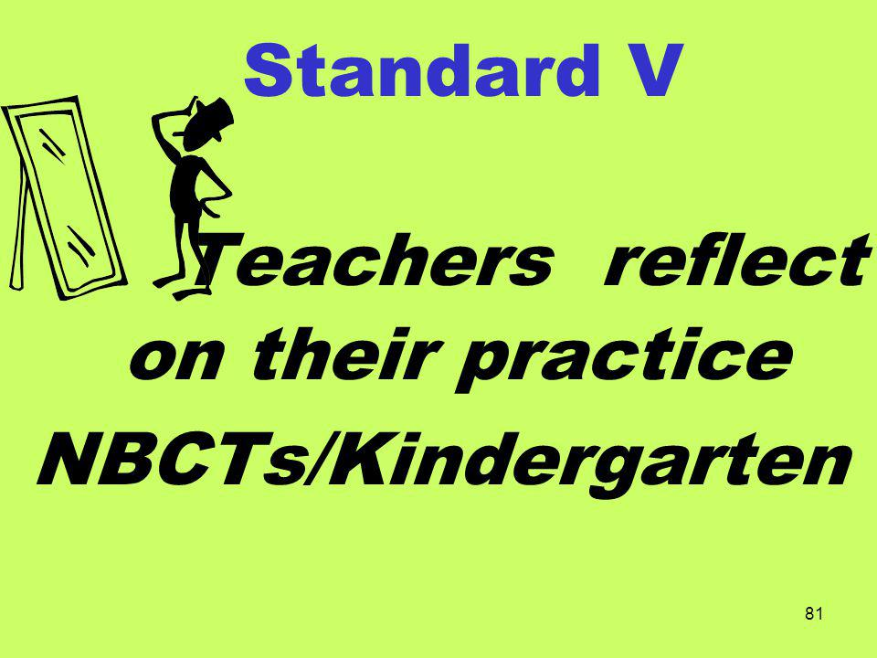 Teachers reflect on their practice
