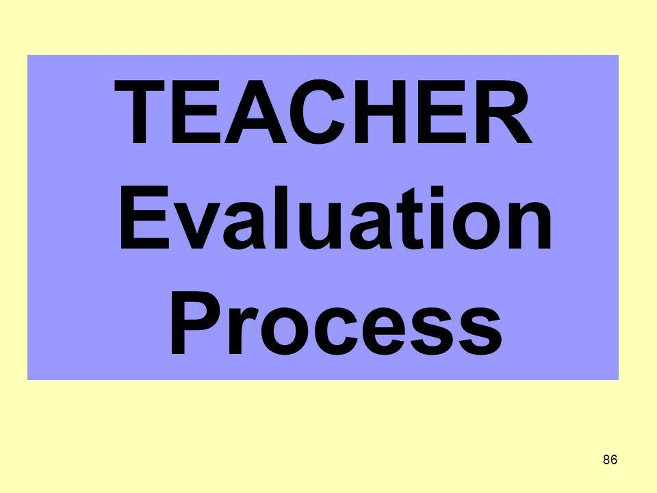 TEACHER Evaluation Process