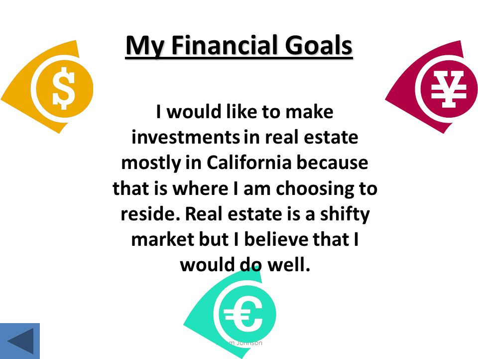 My Financial Goals