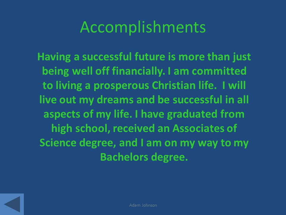 Accomplishments