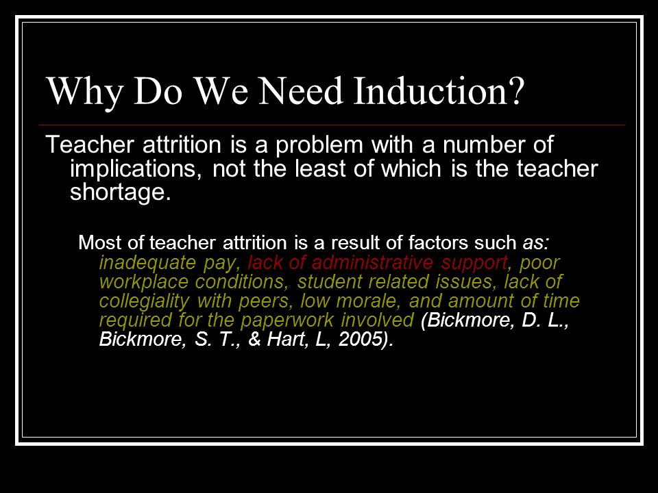 Why Do We Need Induction