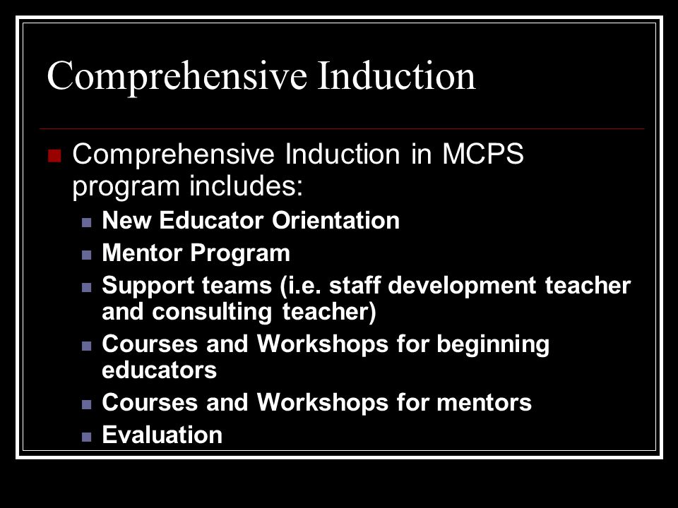 Comprehensive Induction