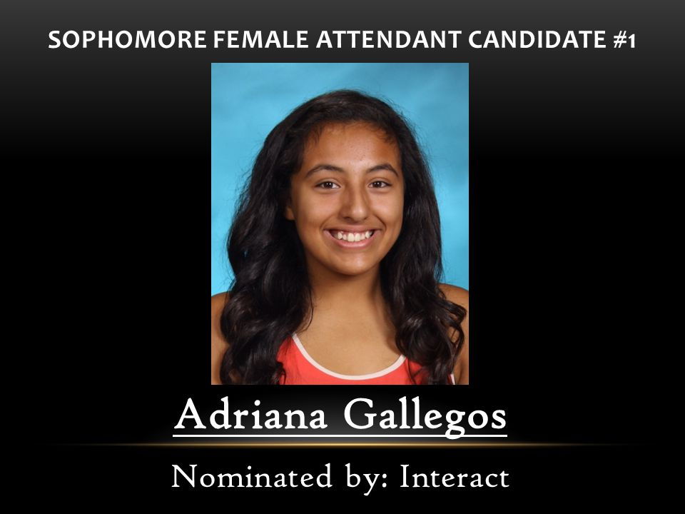 SOPHOMORE FEMALE ATTENDANT CANDIDATE #1