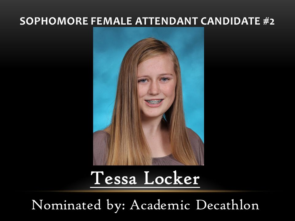 SOPHOMORE FEMALE ATTENDANT CANDIDATE #2