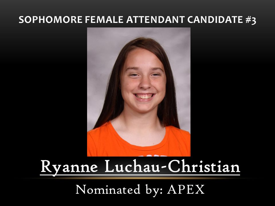 SOPHOMORE FEMALE ATTENDANT CANDIDATE #3