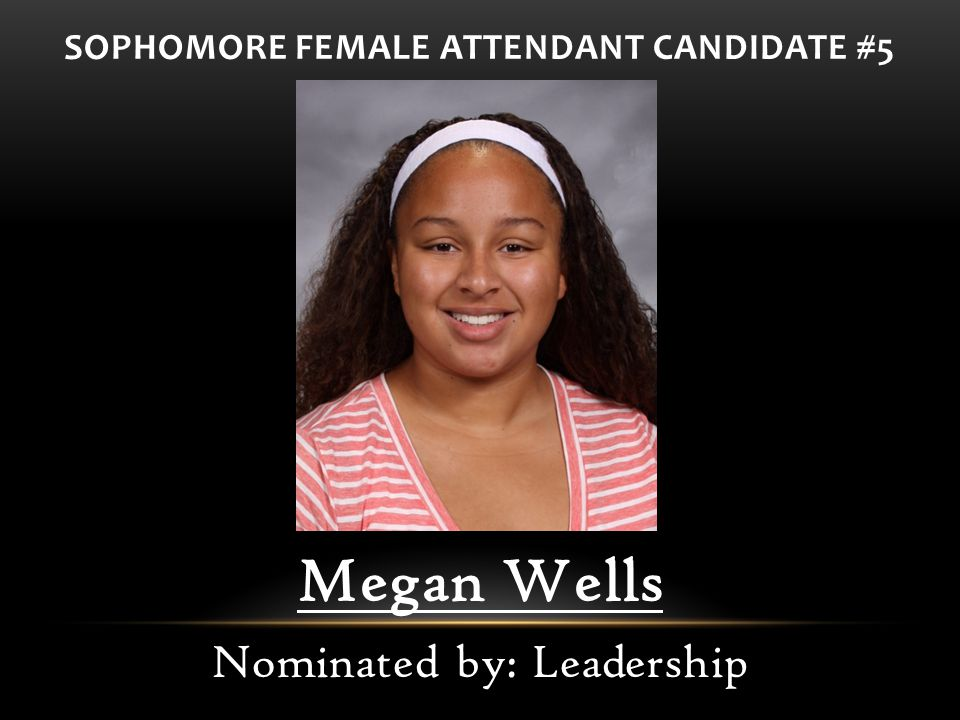 SOPHOMORE FEMALE ATTENDANT CANDIDATE #5