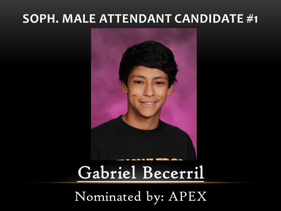 SOPH. MALE ATTENDANT CANDIDATE #1
