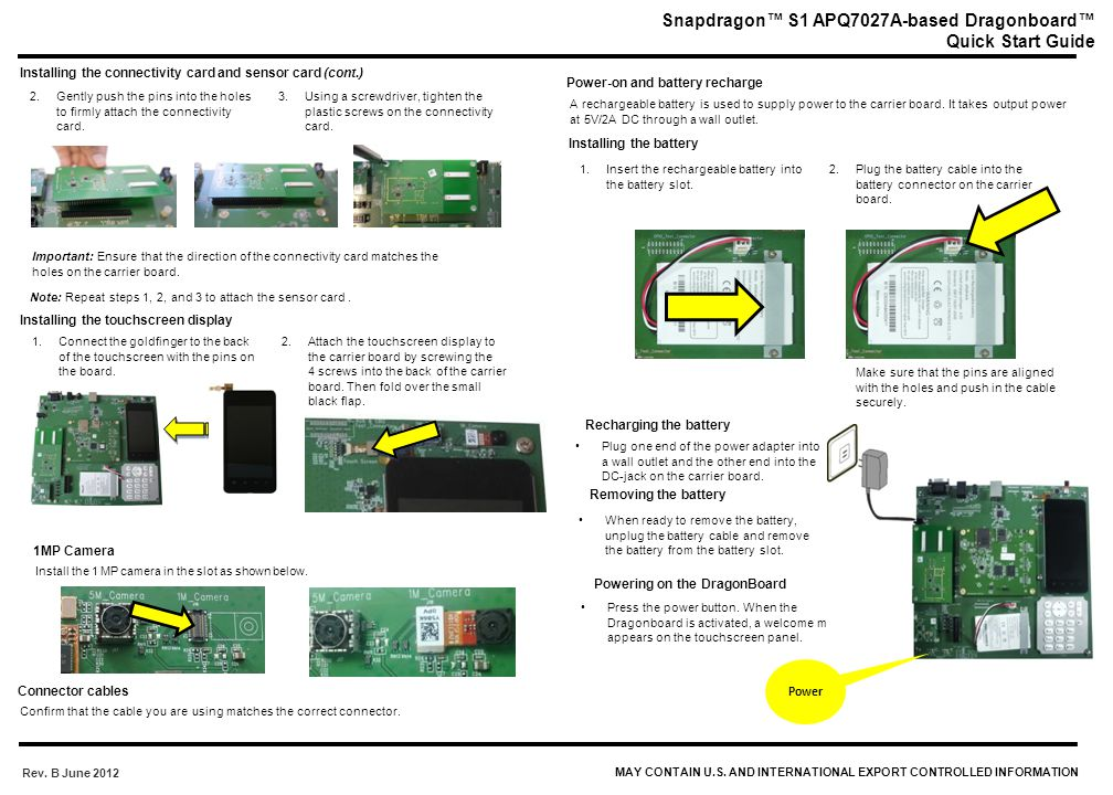 Snapdragon™ S1 APQ7027A-based Dragonboard™ Quick Start Guide