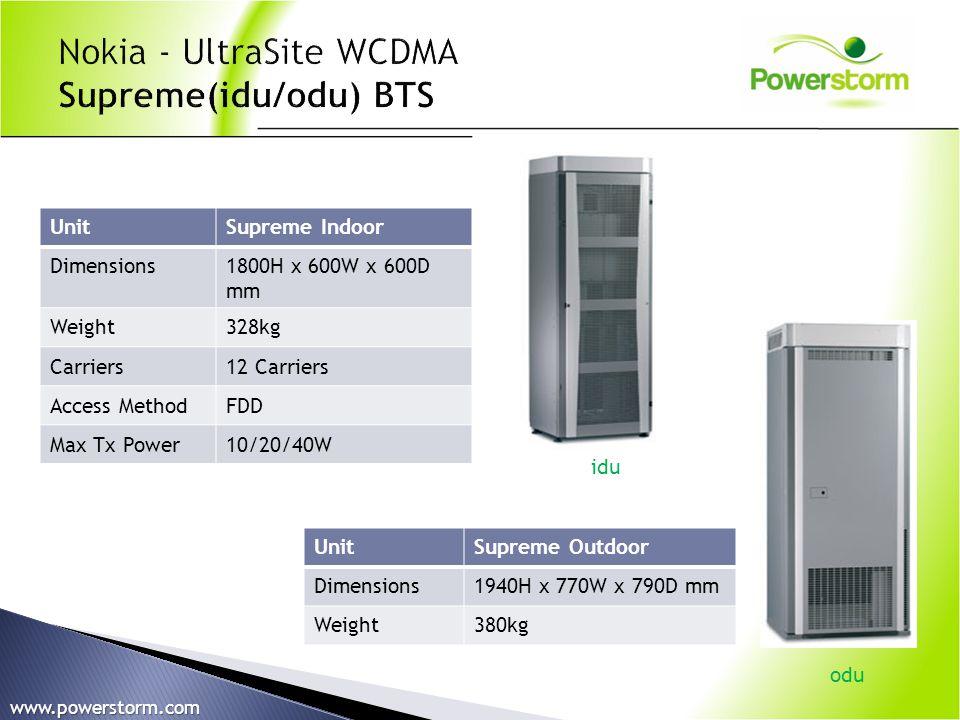 Nokia - UltraSite WCDMA Supreme(idu/odu) BTS