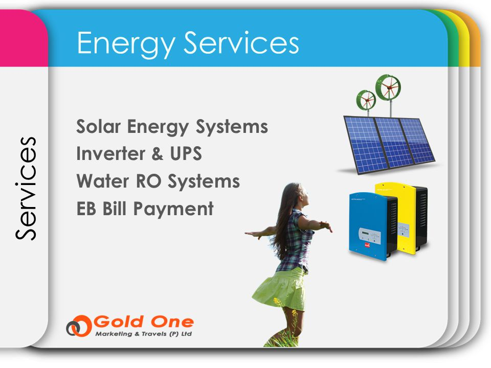 Energy Services Services Solar Energy Systems Inverter & UPS