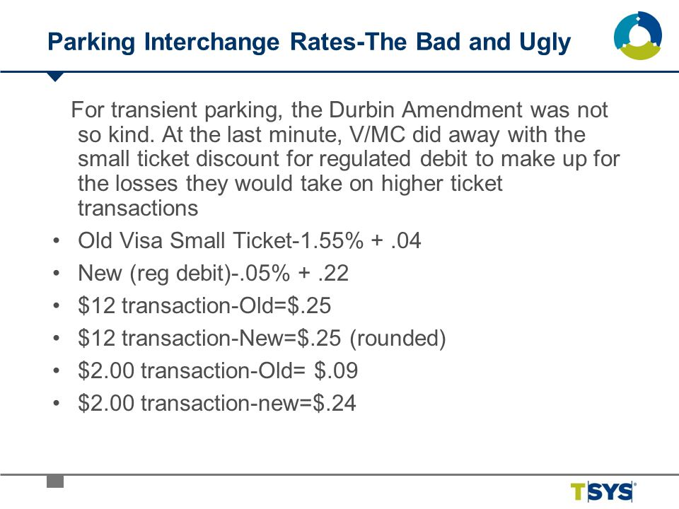Parking Interchange Rates-The Bad and Ugly