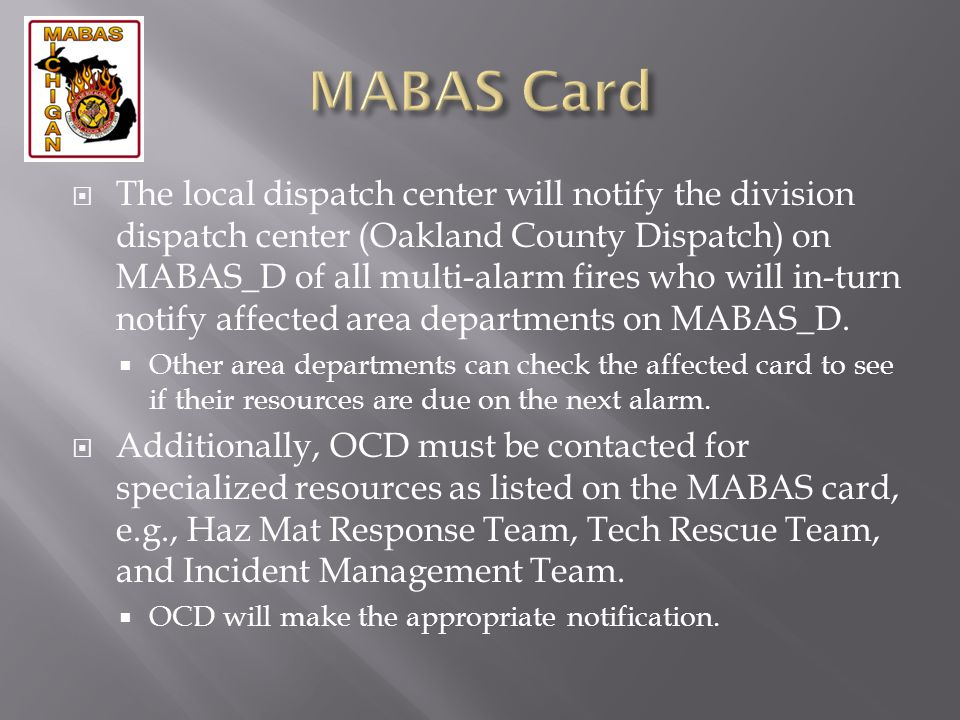 MABAS Card