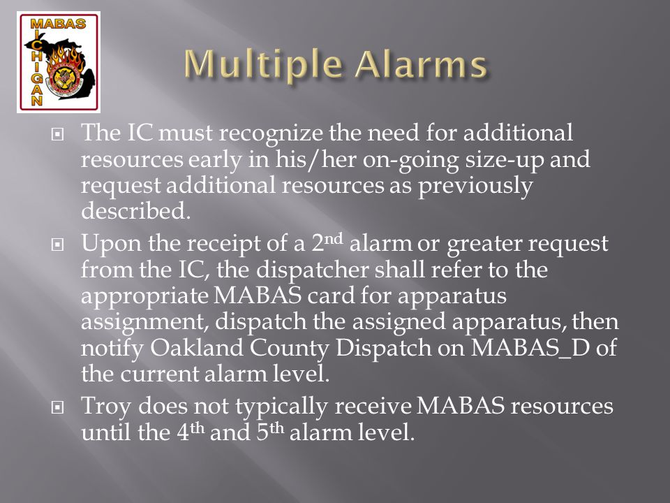 Multiple Alarms
