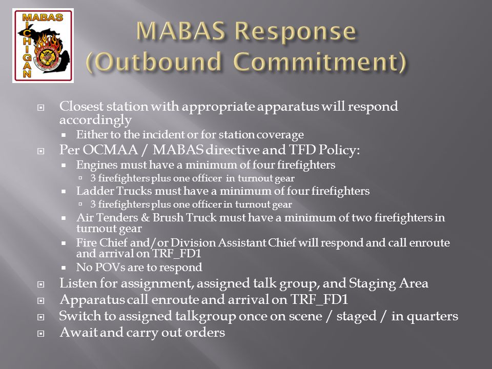 MABAS Response (Outbound Commitment)