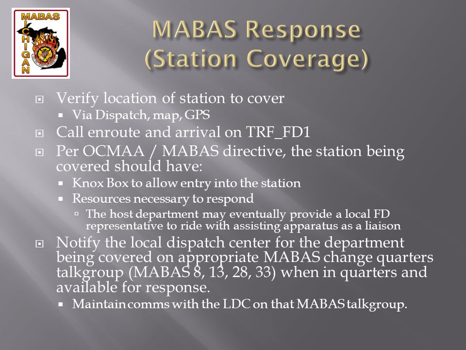 MABAS Response (Station Coverage)