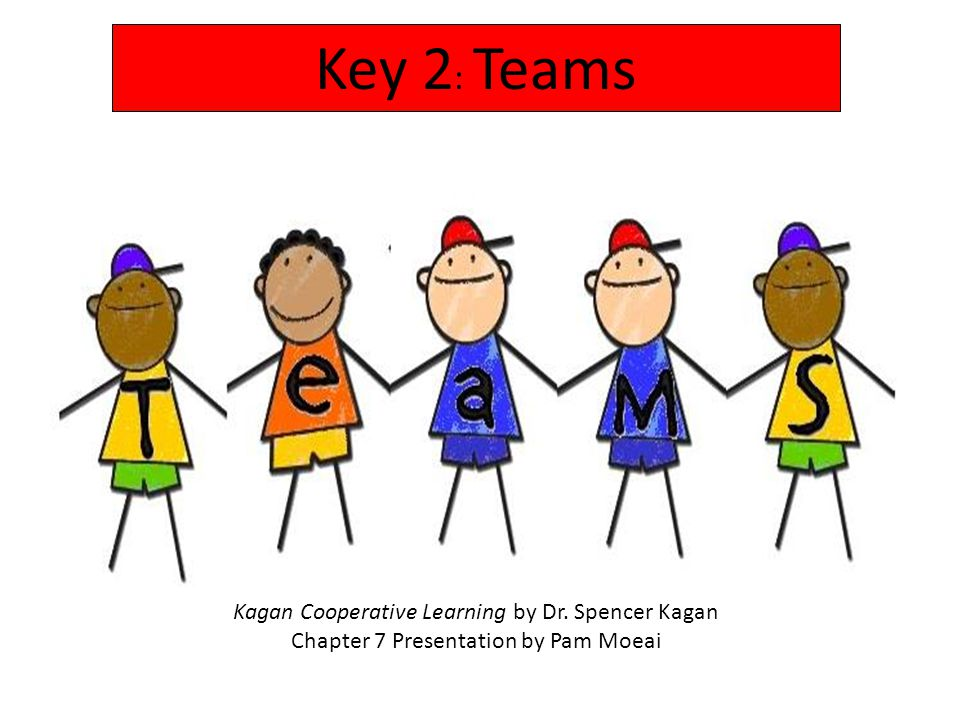 Key 2: Teams Kagan Cooperative Learning by Dr. Spencer Kagan