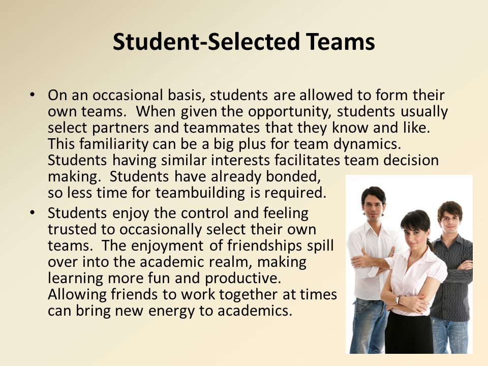 Student-Selected Teams