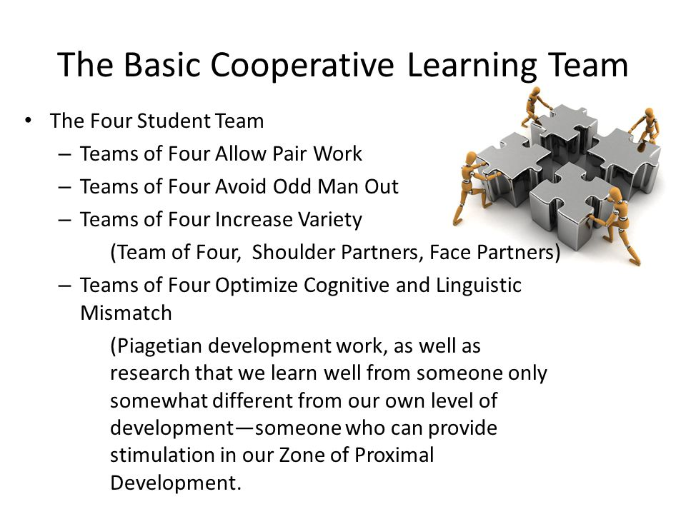 The Basic Cooperative Learning Team