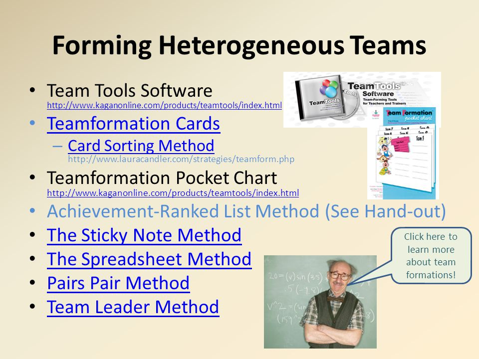 Forming Heterogeneous Teams