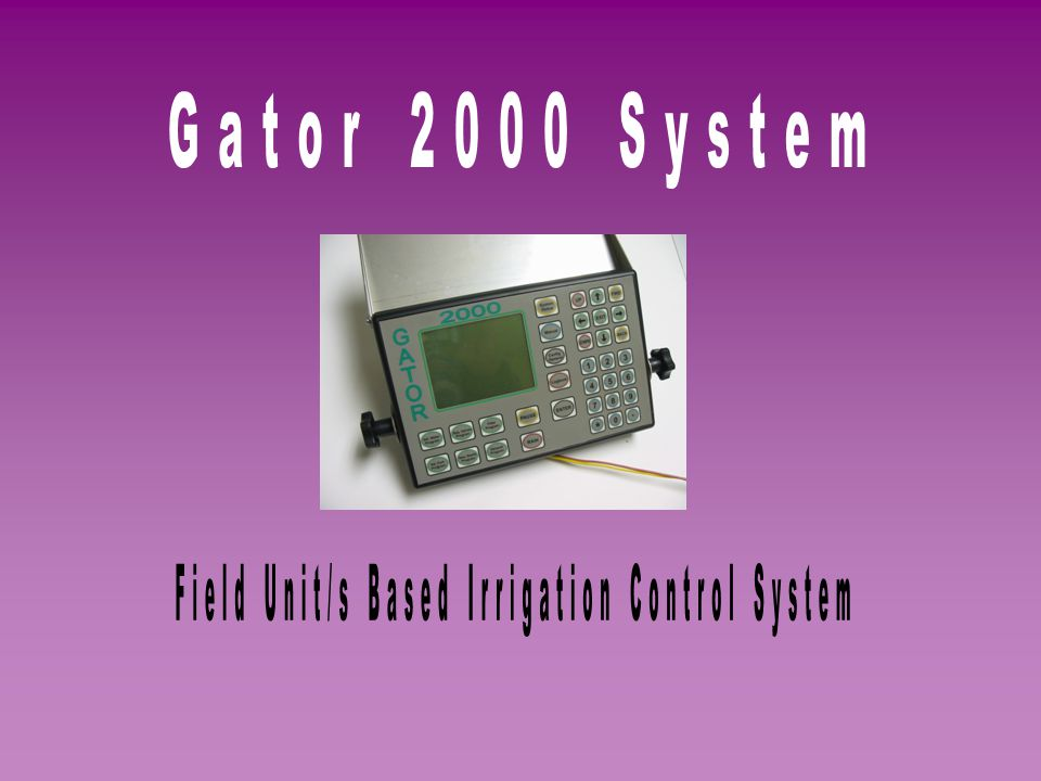 Field Unit/s Based Irrigation Control System