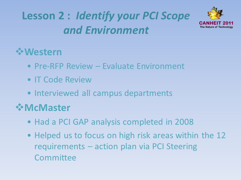 Lesson 2 : Identify your PCI Scope and Environment