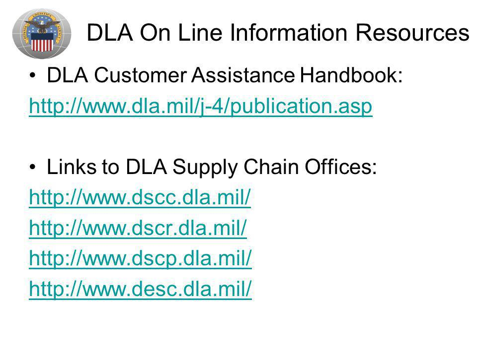 DLA On Line Information Resources
