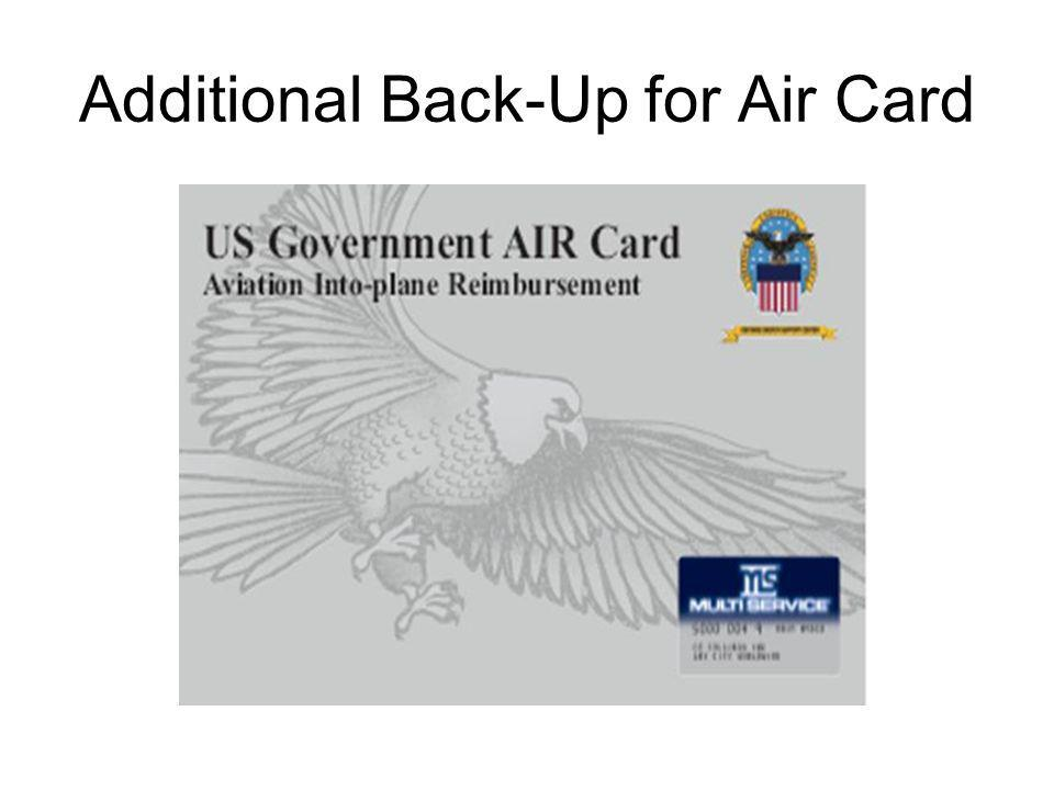 Additional Back-Up for Air Card