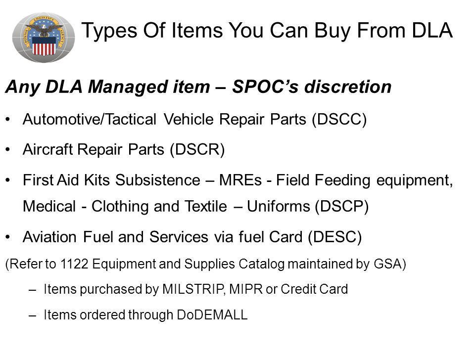 Types Of Items You Can Buy From DLA