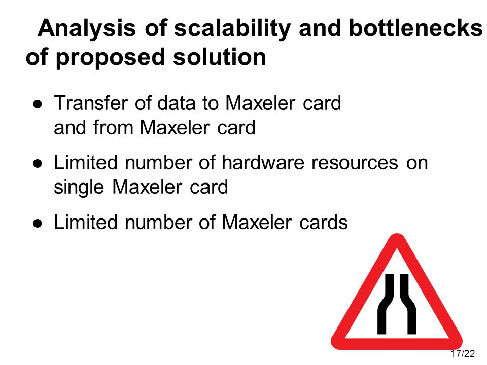 Analysis of scalability and bottlenecks of proposed solution