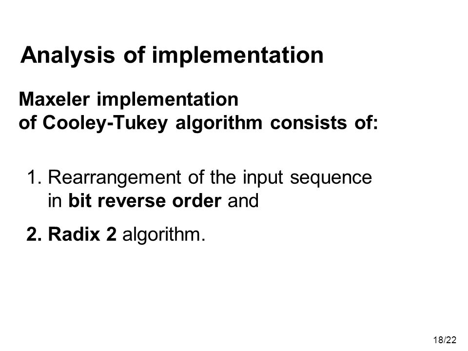 Analysis of implementation