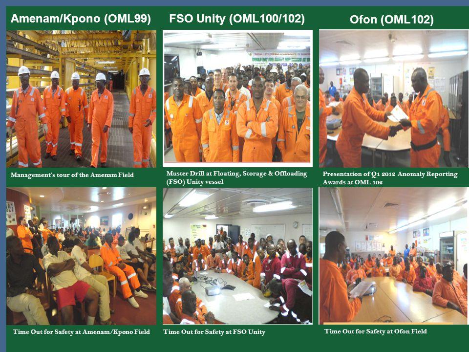 Amenam/Kpono (OML99) FSO Unity (OML100/102) Ofon (OML102)