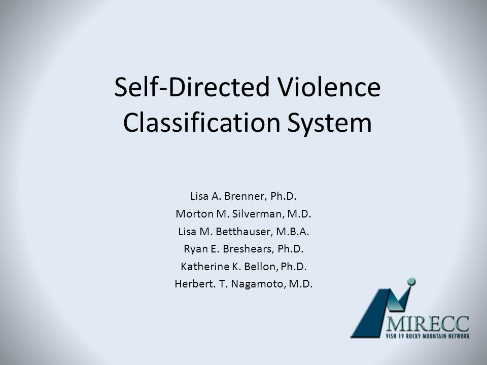 Self-Directed Violence Classification System