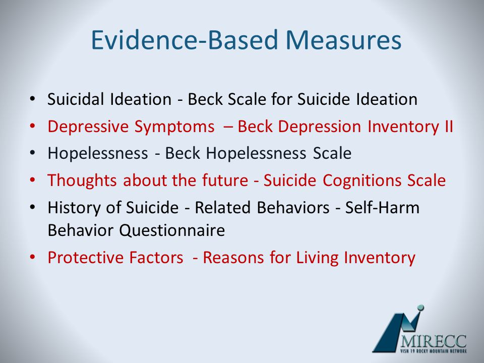 Evidence-Based Measures