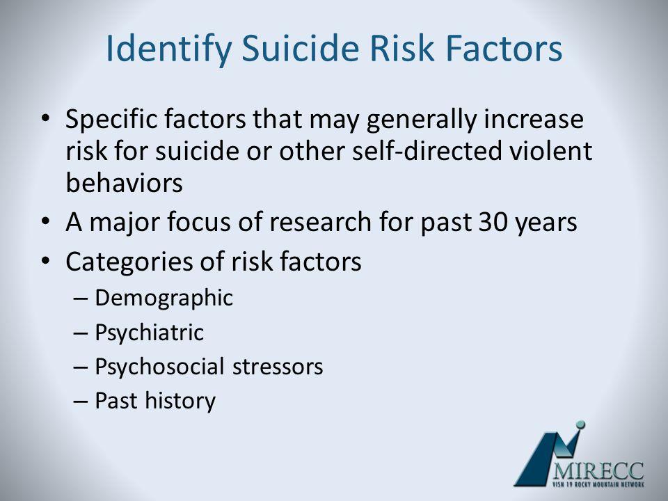 Identify Suicide Risk Factors