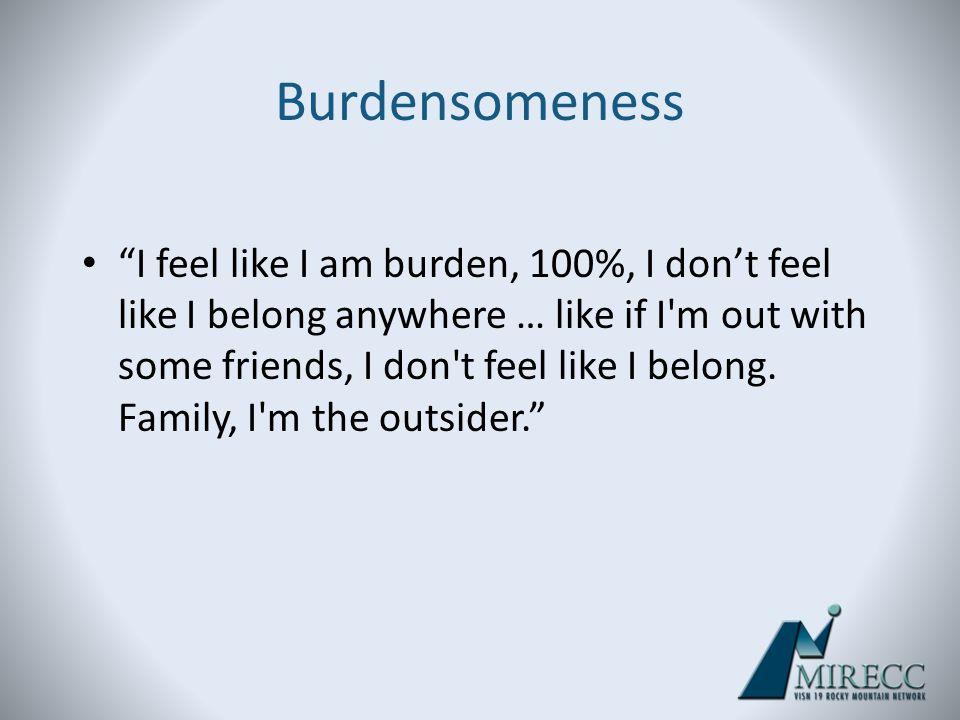 Burdensomeness