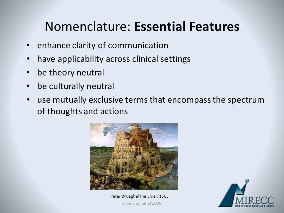 Nomenclature: Essential Features