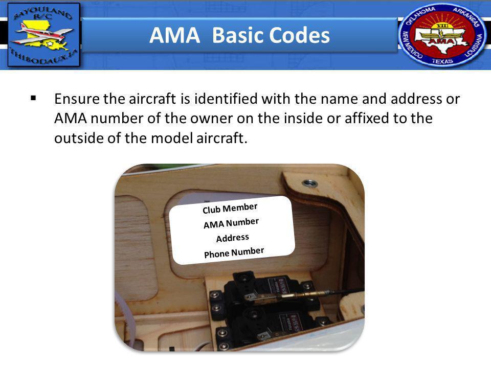 AMA Basic Codes