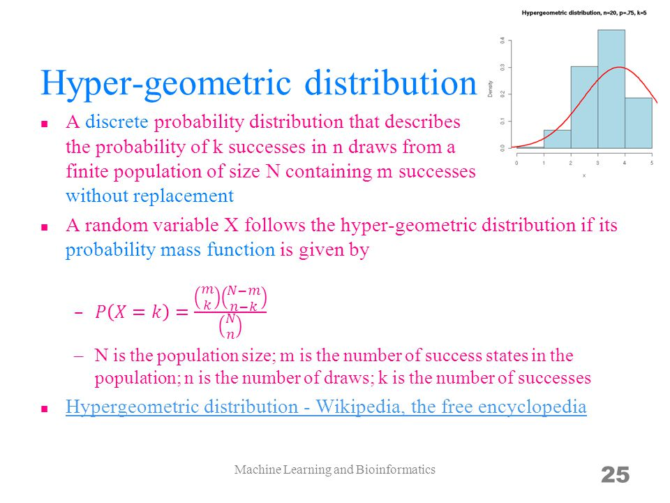 Hyper-geometric distribution