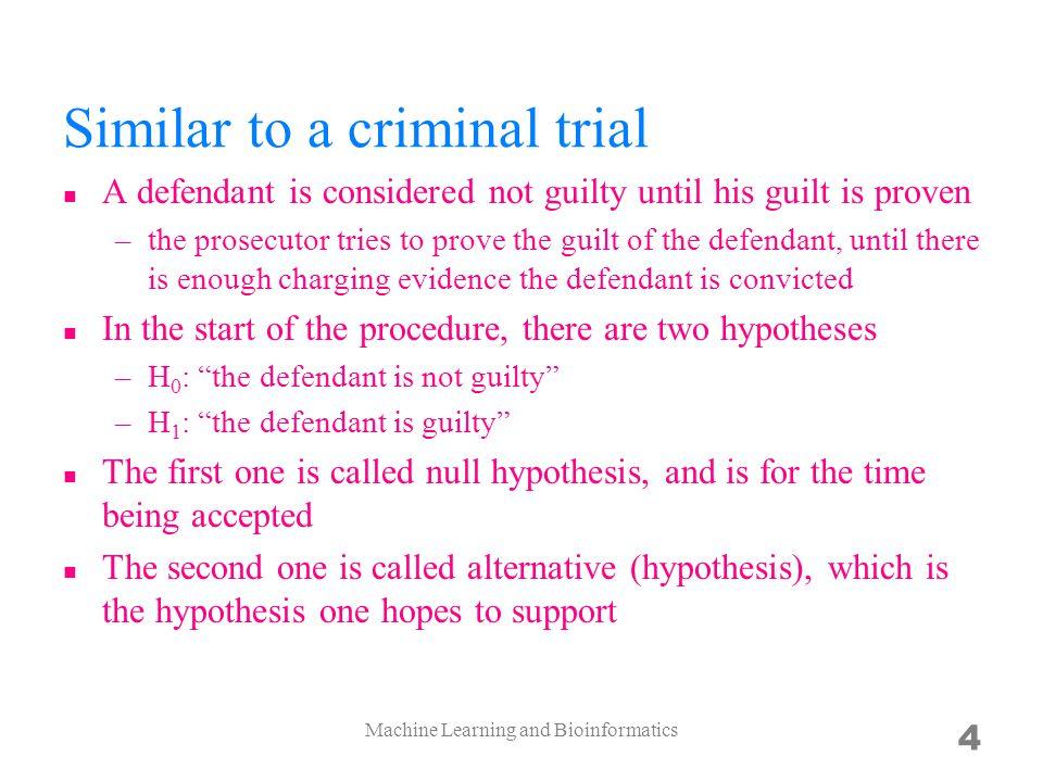 Similar to a criminal trial