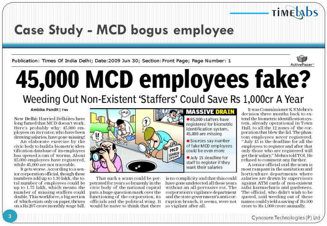 Case Study - MCD bogus employee