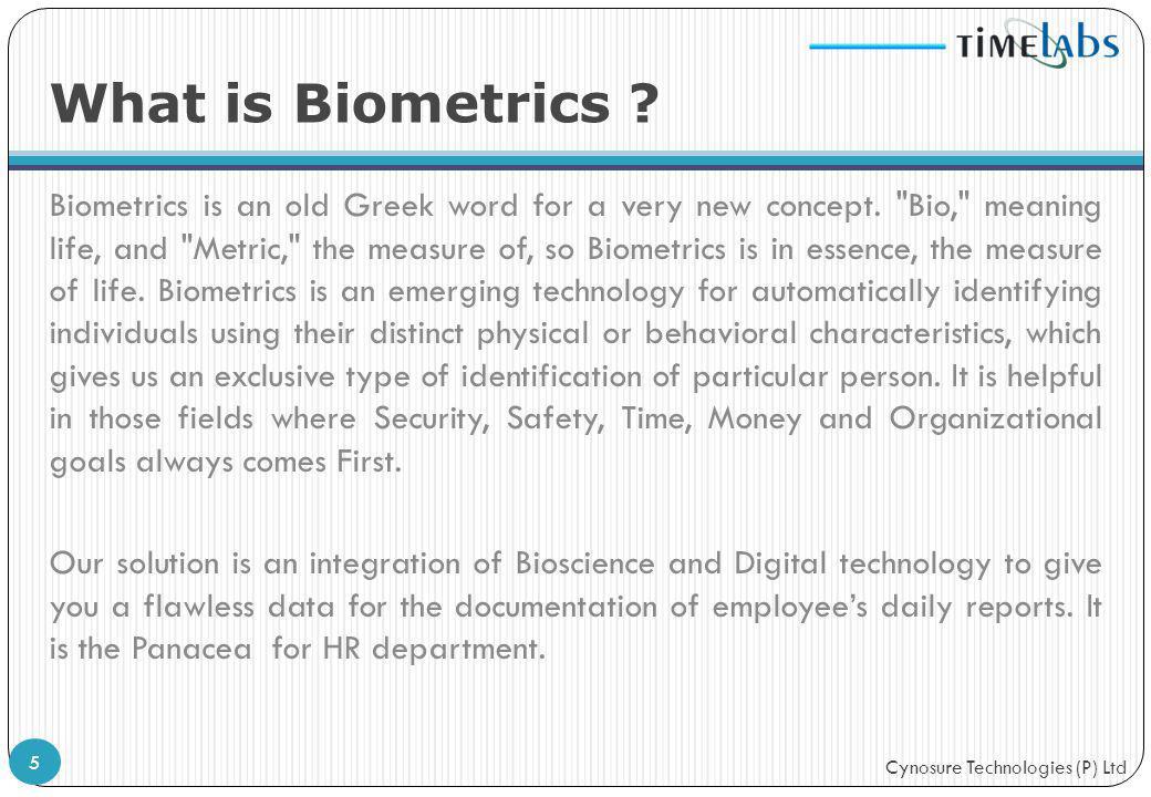 What is Biometrics