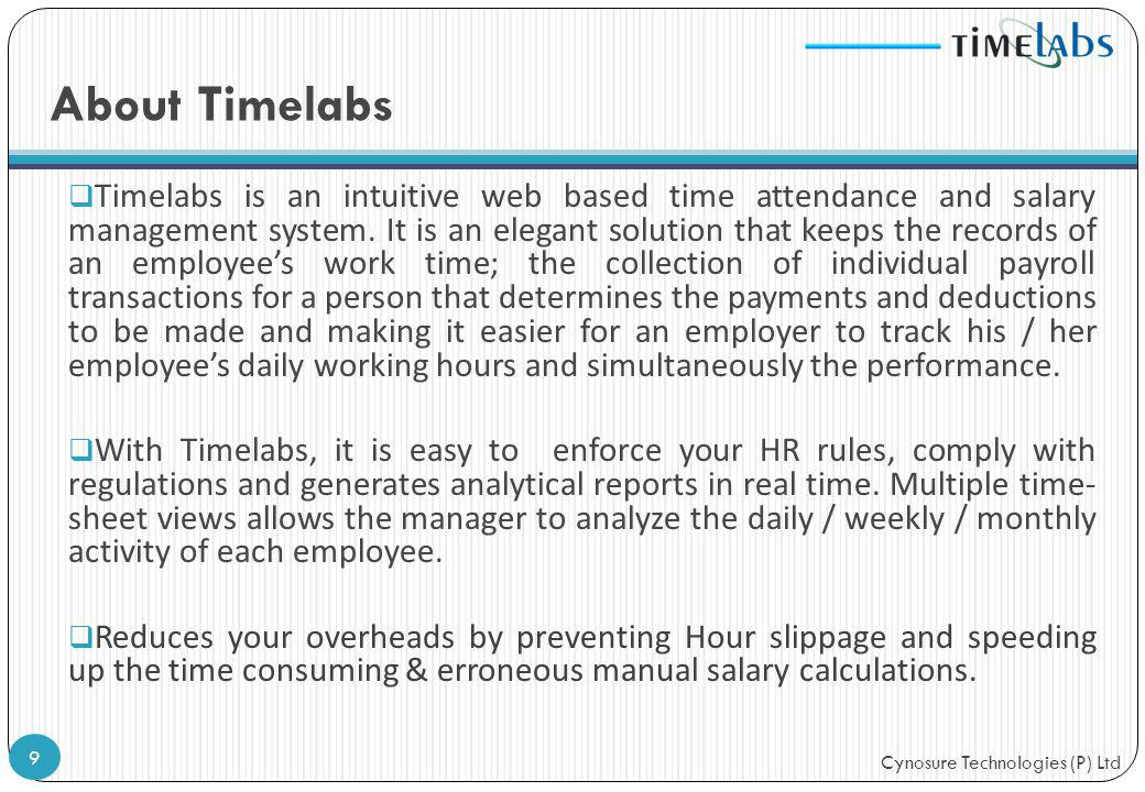 About Timelabs